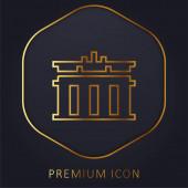 Braniborská brána zlatá linie prémiové logo nebo ikona