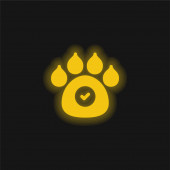 Animals Allowed yellow glowing neon icon