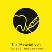 Anästhesie minimal leuchtend gelbes Material Symbol