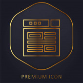 Blogging goldene Linie Premium-Logo oder Symbol