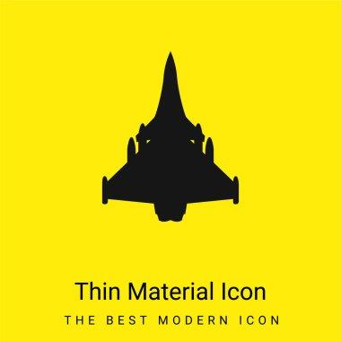 Airplane Black Shape minimal bright yellow material icon