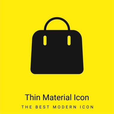 Big Hand Bag minimal bright yellow material icon