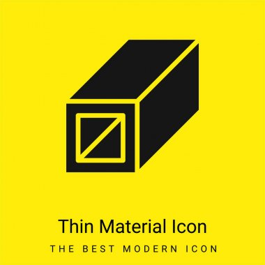 Beam minimal bright yellow material icon