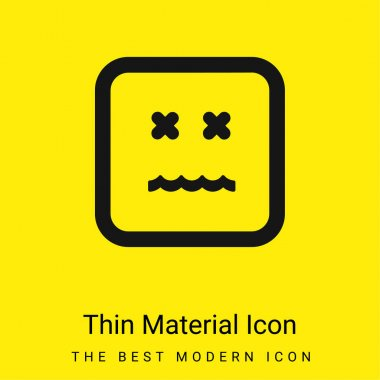Annulled Emoticon Square Face minimal bright yellow material icon