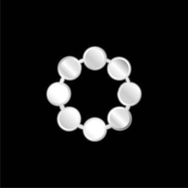 Boncuk gümüş kaplama metalik simge