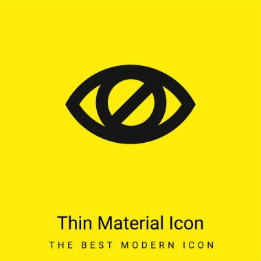 Blind Eye Sign minimal bright yellow material icon stock vector