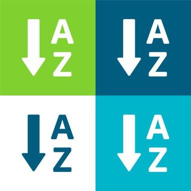 Alphabetical Order Flat four color minimal icon set