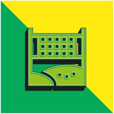 Beach Ball Green and yellow modern 3d vector icon logo stock vector