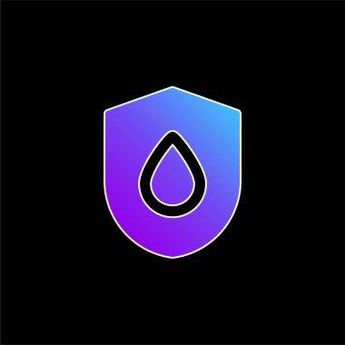 Blood Drop blue gradient vector icon stock vector