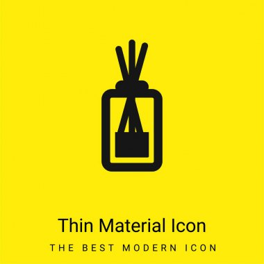 Aromatherapy minimal bright yellow material icon stock vector