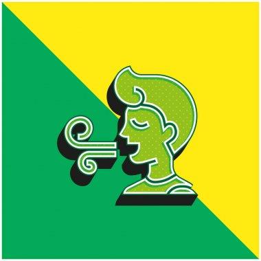 Bad Breath Green and yellow modern 3d vector icon logo stock vector