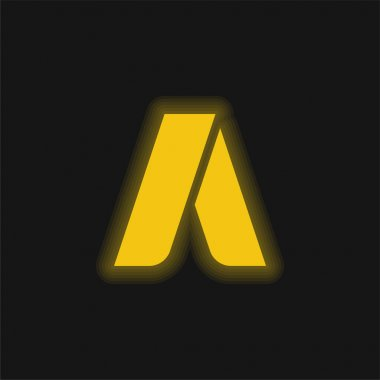 Adwords yellow glowing neon icon