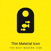 Bib minimální jasně žlutý materiál ikona