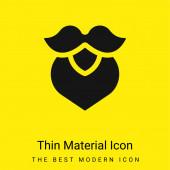Bart minimal leuchtend gelbes Material Symbol