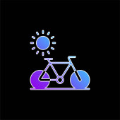 Cyklistická ikona modrého přechodu
