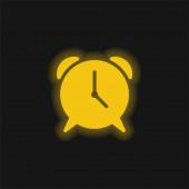 Ikona žlutého zářícího neonu