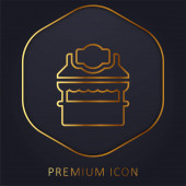 Booth golden line premium logo or icon