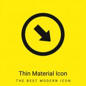Pfeil zeigt nach unten Rechts Ecke minimal leuchtend gelbes Materialsymbol