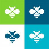 Bee Flat vier Farben minimales Symbol-Set