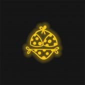 Bikini žlutá zářící neonová ikona
