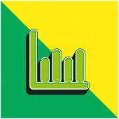 Bary Grafika Zelená a žlutá moderní 3D vektorové logo ikony