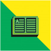 Könyv Zöld és sárga modern 3D vektor ikon logó
