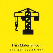 Architektur-Kran-Werkzeug minimal hellgelbes Material-Symbol