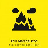 Alpy minimální jasně žlutý materiál ikona
