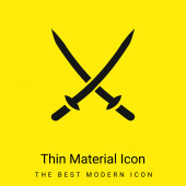 2 Katanas minimales leuchtend gelbes Materialsymbol