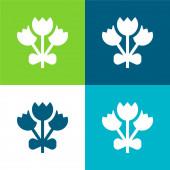 Csokor Lapos négy szín minimális ikon készlet