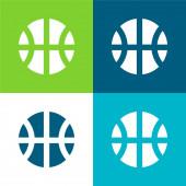 Ball Flat čtyři barvy minimální ikona nastavena