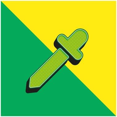 Black Dropper Green and yellow modern 3d vector icon logo stock vector