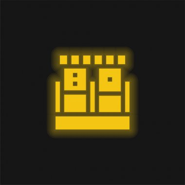 Blood Sample yellow glowing neon icon stock vector