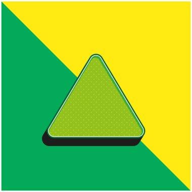Bleach Green and yellow modern 3d vector icon logo stock vector