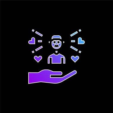 Boy blue gradient vector icon stock vector