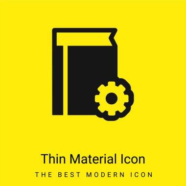Book Configuration Interface Symbol minimal bright yellow material icon stock vector