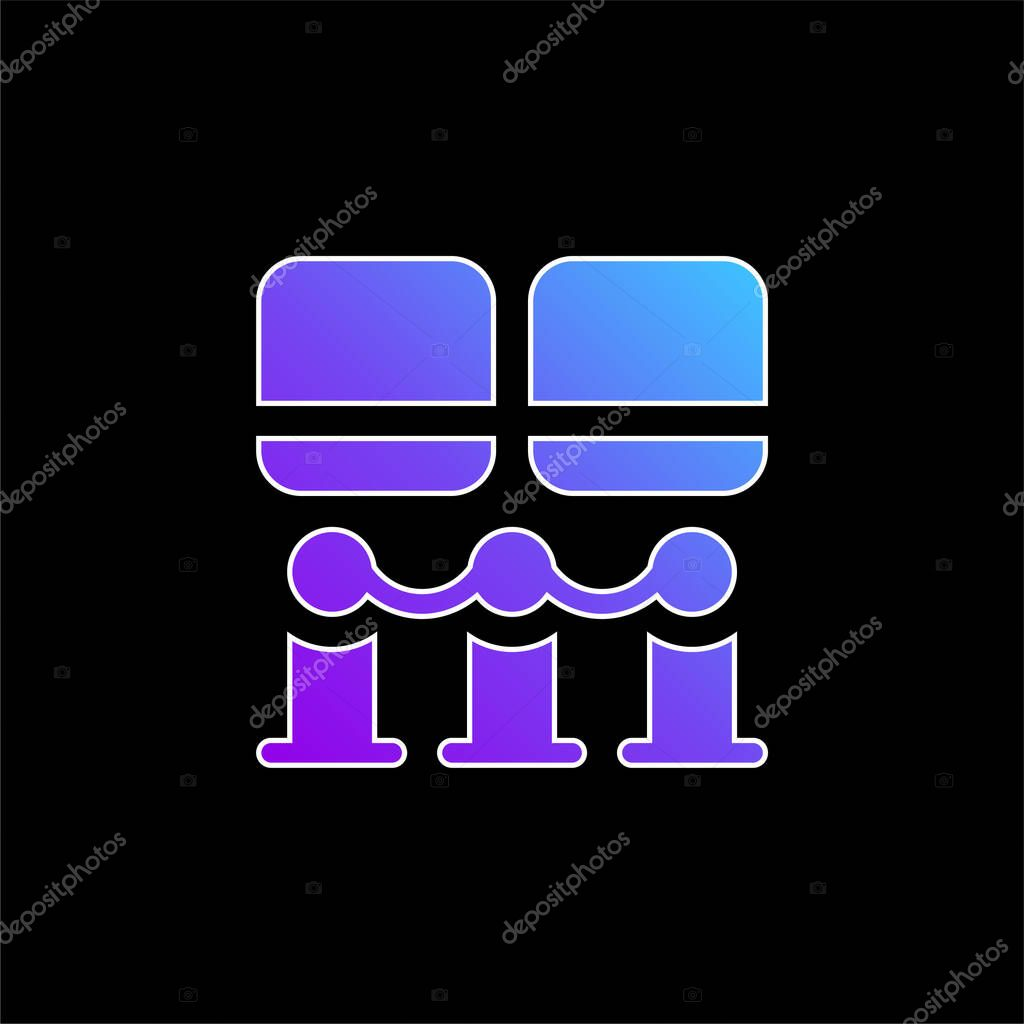 Art Museum blue gradient vector icon stock vector