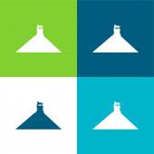 Belgium Lapos négy szín minimális ikon készlet