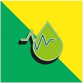 Vérvizsgálat Zöld és sárga modern 3D vektor ikon logó