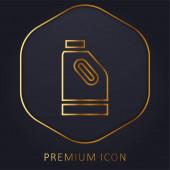 Bleach zlatá čára prémie logo nebo ikona