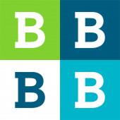 Bold Flat four color minimal icon set