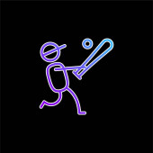 Baseballspieler blaues Gradienten-Vektor-Symbol