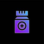 Flaschenblaues Gradienten-Vektor-Symbol