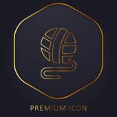 Ball golden line premium logo or icon