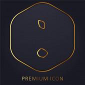 Antigua And Barbuda golden line premium logo or icon