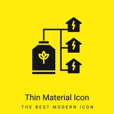 Bio Energy minimal bright yellow material icon stock vector