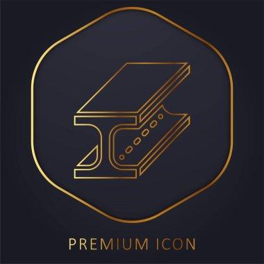 Beam golden line premium logo or icon