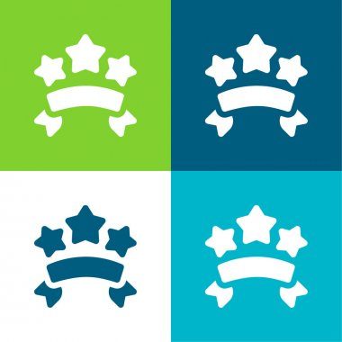 Banners Flat four color minimal icon set stock vector