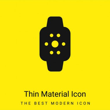 Apple Watch minimal bright yellow material icon stock vector