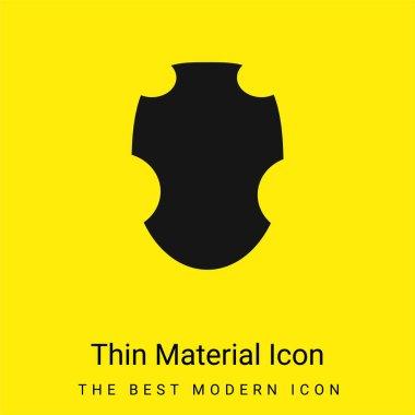 Black Warrior Shield minimal bright yellow material icon stock vector